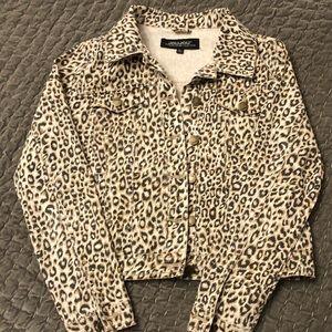 Joujou cheetah print denim jacket M